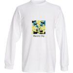 t shirt LS MLilo Electric city WHT