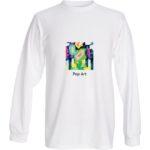 t shirt LS MLilo Gray Pop Art 1